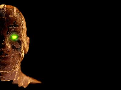Man of Gold artist 3dartist head face human man gold render blendercycles blender 3d blender3d blender 3d art 3dart 3d