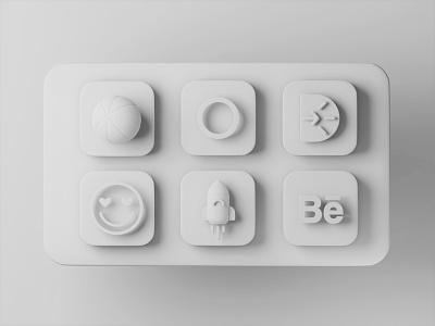 BigSur - Clay appicon openvy macos icon wwdc big sur bigsur macos apple concept clay blender3d 3d art c4d blender 3d