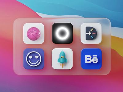 Big Sur! openvy 3d icon app icon macos icon icons 3d art wwdc apple macos bigsur big sur c4d blender 3d blender 3d
