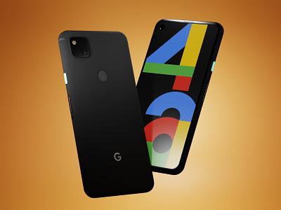 Pixel 4a 3D Mockup   Download Now !!! phone device 3d mockup device mockup giveaway blender 3d model freebie model 3d art pixel4a 4a pixel 3d