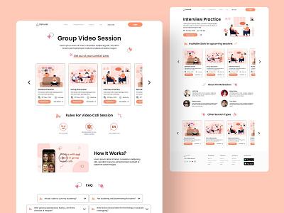 Stamurai Website Design   Group Video Sessions stammer group video call video call stutter stamurai product design web design website ui ux design