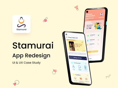 Stamurai App Case Study behance project behance case study stuttering speech therapy stamurai adobe xd blender ui ux design