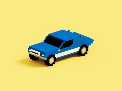 Mini Car pixelart pixelated pixel car 3d artist 3d art blender3d render blender magica voxel magicavoxel voxel art voxels voxelart voxel