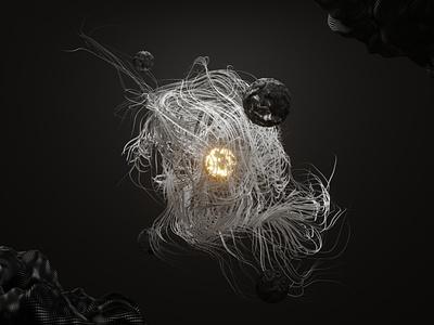Life x01 humans animals organism life randomness sci fi abstract art render eevee light random abstract 3d 3d art design blender