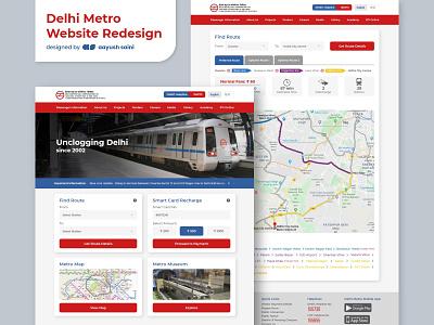 Delhi Metro Website Redesign web photoshop redesigned ux case study ui design redesign concept delhi metro website redesign adobe xd ux ui design