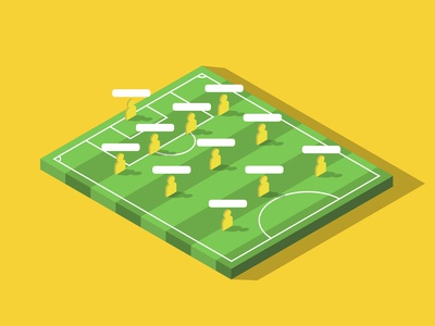 Football Formation template isometric design