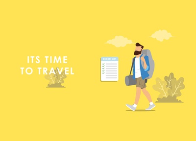 Traveller flat illustration