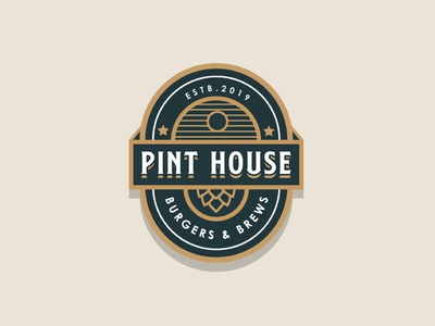 Beer and restaurant concept logo