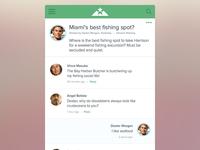 Mobile discussion forum