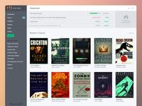 eBook publisher dashboard
