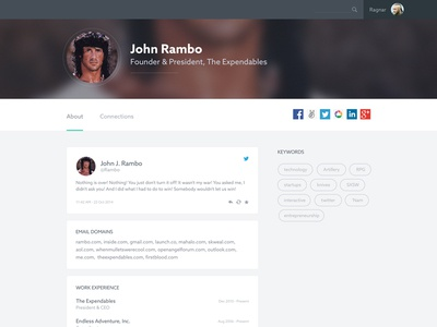 User profile exploration