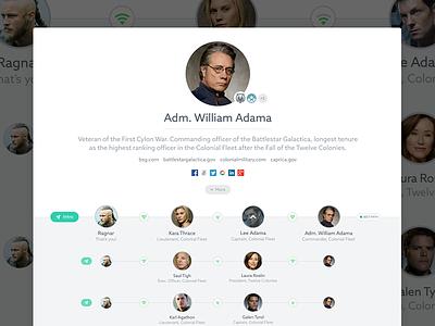 User Profile profile ui user interface networking network user profile web