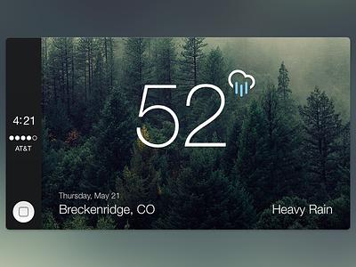 CarPlay Weather user interface ui hud vehicle motorsports apple carplay weather