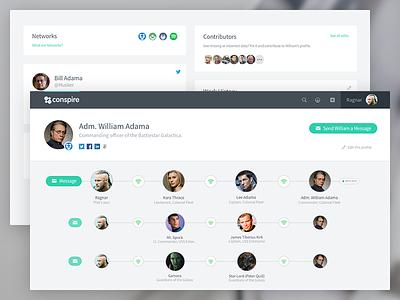 Conspire User Profile Refresh network user profile networking profile app web user interface ui