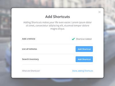 Shortcut Trainer settings user interface ui customization walk through setup