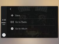 Carplay spotify track menu