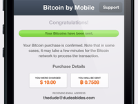 Bitcoin iPhone App UI