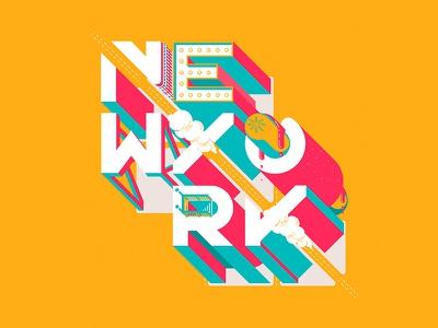 NYC nyc ny poster underground vector city pablo alvarez