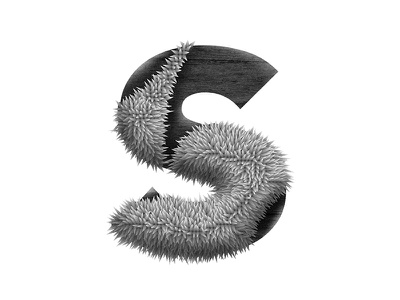 Stripping down the S, WIP typography lettering s font hair pink experiment test