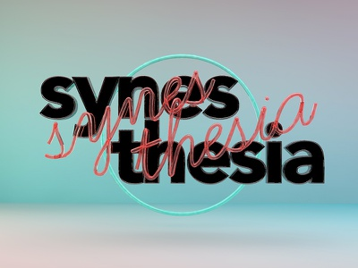 Synesthesia WIP wip neon 3d lettering typography font