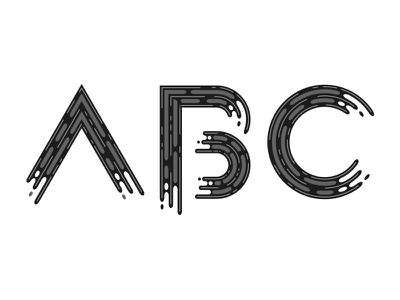 Abc WIP wip lettering typography font liquid