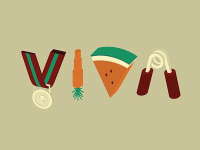 VIVA Magazine - Cover design viva cover illustration new year vector