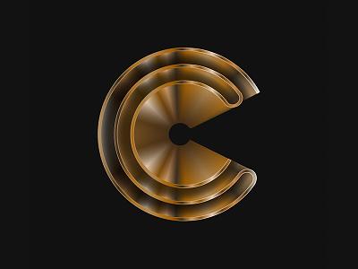 C - Typography in progress typography wip c gold deco