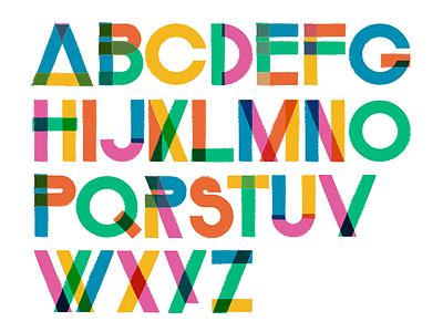 Tastes of the Tropics - Custom type drop paint colors lettering type custom