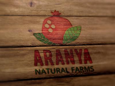 Aranya Natural Farms pomegranate nature farm freelance designer creative agency creative visual branidentity braning logodesign logo