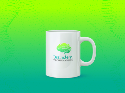 Brainstem Technologies brain gradation colorful india freelance designer graphic design ai identity design communication design design visual branding logo design identity logo