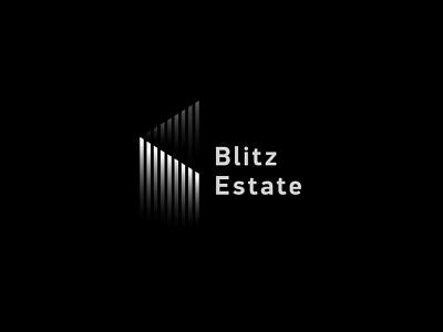 Blitz Estate vector grayscale shadow realty property house gradient gray geometric estates logo identity branding