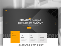 creative agency template design