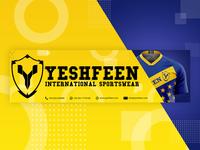 Yeshfeen sportswear banner design