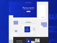 BEZONE Landing page design