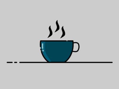 #2 Coffee Time vector minimal logo line art inkscape illustration icon design art