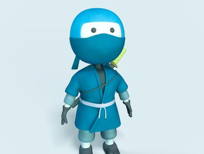 Ninja Hibimaru character design render 3d digitalart 3d art character illustration design cinema4d c4d