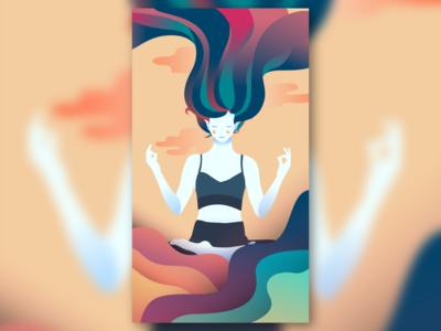 MEDITATION uidesign design flat design physical healthy meditate meditation vector design illustrator illustration art custom illustration illustration