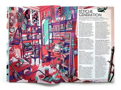 Premiere Magazine Double Page layout magazine magazine illustration editorial art editorial retro design japan graphic design vintage retro paihemestudio paiheme japanese illustration