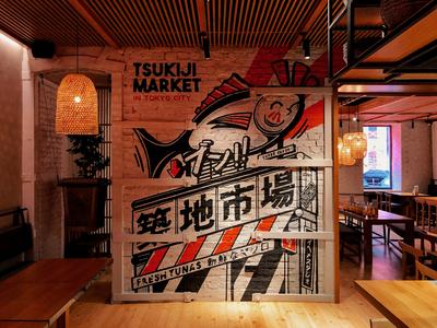 Torisho Wall 2 retro design japan graphic japanese design vintage retro paihemestudio paiheme illustration
