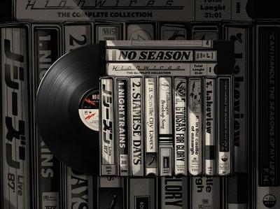 "No Season - ""Highwires"" Vinyl album cover design album cover music artwork vinyl art vinyl record vinyl retro design japan graphic japanese design vintage retro paihemestudio paiheme illustration"
