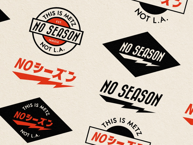 No Season T-shirt Logos ! vintage design vintage badge vintage logo logodesign logo retro design japan graphic japanese design vintage retro paihemestudio paiheme illustration