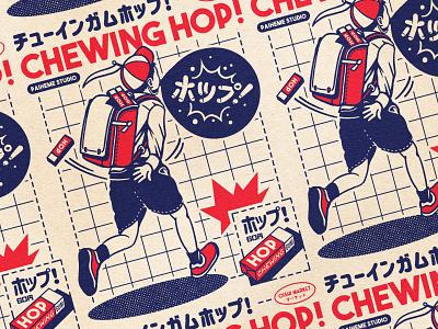 OISHI COLLECTION - Hop 🔥 retro design japan graphic japanese design vintage retro paihemestudio paiheme illustration