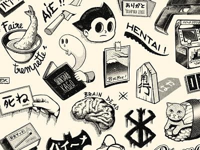 Paiheme スタジオ Tattoos 1 graphic artist graphic art flash illustration tattoo paihemestudio paiheme retro design graphic vintage retro japanese