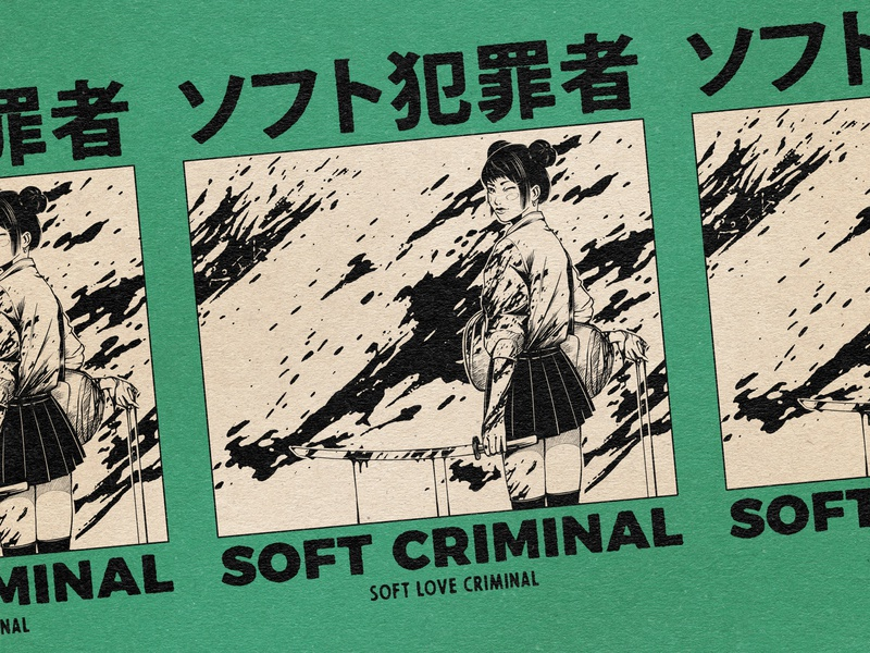 Soft Criminal ! manga illustration girl illustration girl character girl typogaphy logo manga japan graphic artists retro design estampe japanese graphic art graphic design vintage retro paihemestudio paiheme illustration