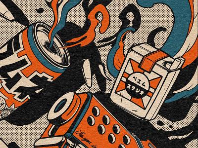Sayonara Gun ! japanese art t-shirt illustration t-shirt design talister tattoo typography logo manga retro design japan estampe graphic art graphic japanese design vintage retro paihemestudio paiheme illustration