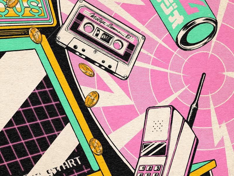 Back to 1982 ! aesthetic vaporwave 80s retro design japan graphic japanese vintage retro paihemestudio paiheme illustration design