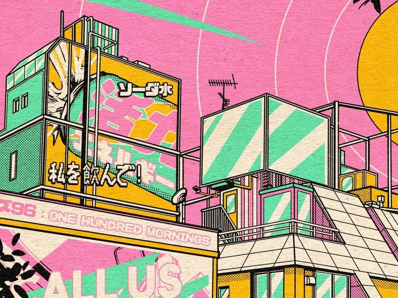Moshimoshi : Back to 1982 ! mangaart moshimoshi 80s style 80s 1980s 1982 manga retro design japan graphic japanese design vintage retro paihemestudio paiheme illustration