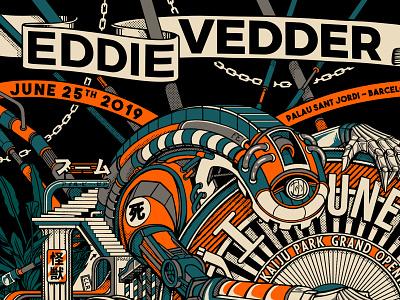 Eddie Vedder Concert Poster ! P.3 poster design art poster rock poster spain barcelona eddie vedder screen print retro design japan graphic japanese design vintage retro paihemestudio paiheme illustration