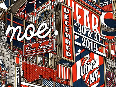 Moe. Poster ! new years eve new year new york utica gigposter concert poster screenprint poster moe manga retro design japan graphic japanese design vintage retro paihemestudio paiheme illustration