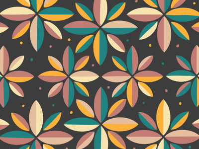 Flower pattern dots illustration art procreate pattern playful fun colorful vibrant leafs flowers vintage color combo